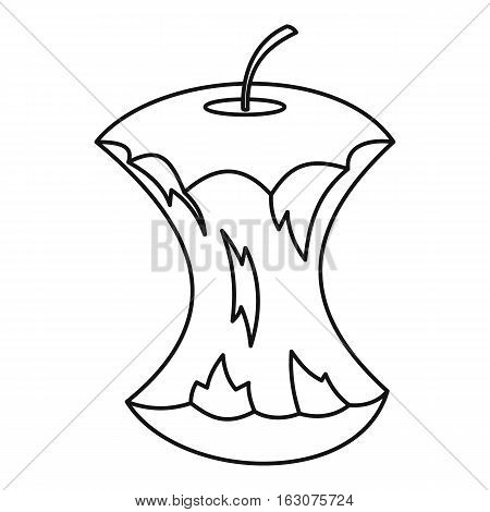 Apple core icon. Outline illustration of apple core vector icon for web