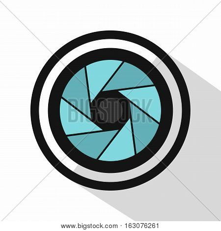 Round objective icon. Flat illustration of round objective vector icon for web