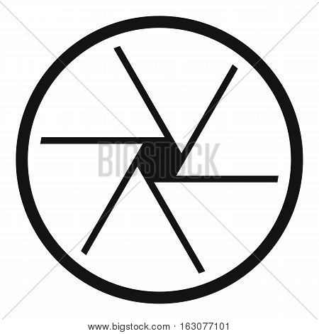 Round objective icon. Simple illustration of round objective vector icon for web