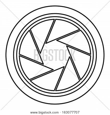 Photographic objective icon. Outline illustration of photographic objective vector icon for web