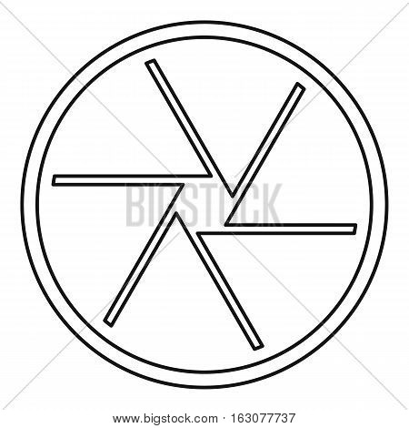 Round objective icon. Outline illustration of round objective vector icon for web