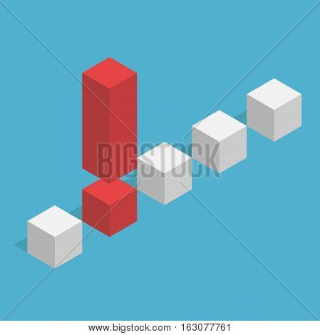 Unique Isometric Exclamation Mark