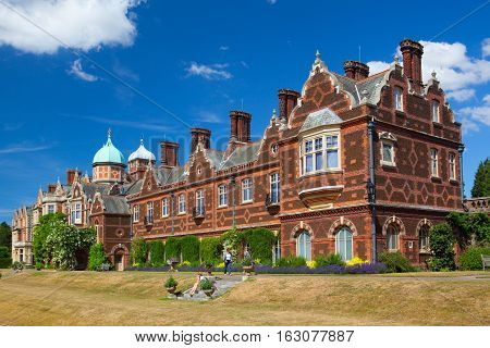 Sandringham,England - July 11,2010: Sandringham House is a country house on 20000 acres of land near the village of Sandringham in Norfolk England.