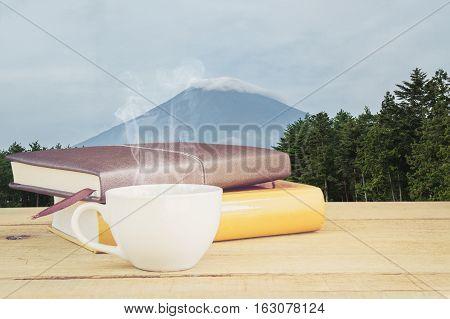 Coffee And Fuji Mountain