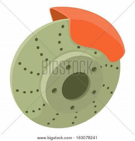 Tire icon. Cartoon illustration of tire vector icon for web