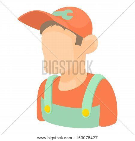Mechanic icon. Cartoon illustration of mechanic vector icon for web