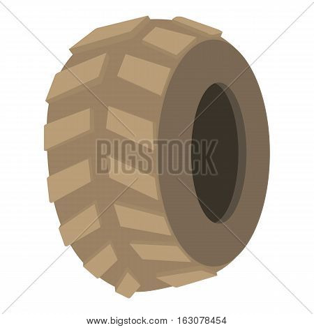 Big tire icon. Cartoon illustration of big tire vector icon for web