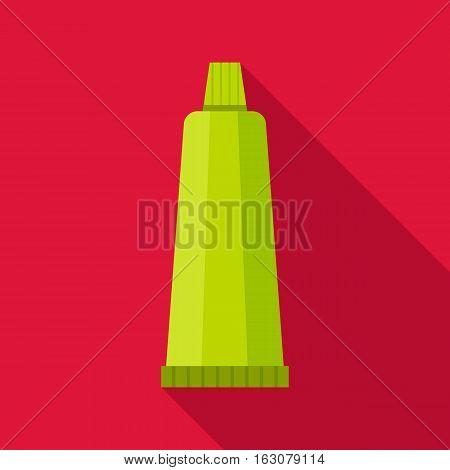 Cream tube icon. Flat illustration of cream tube vector icon for web