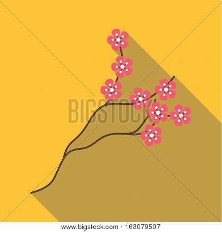 Sakura icon. Flat illustration of sakura vector icon for web