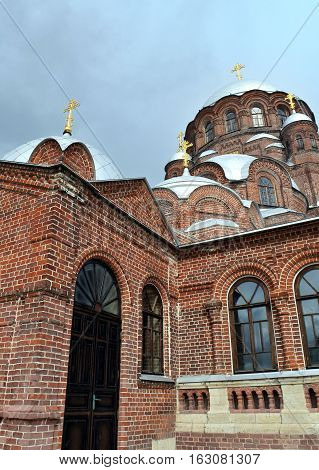 joy of all who sorrow Cathedral on the island of Sviyazhsk in the September 2016 Sviyazhsk island Russia.