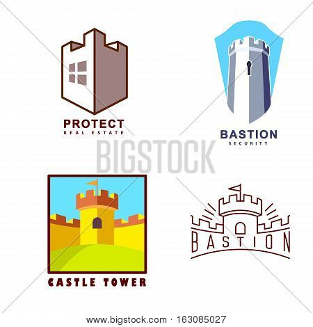 Castle tower real estate guard agency or protect system
