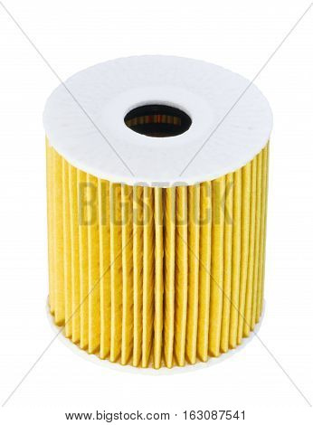 automotive filter isolated on white background industry