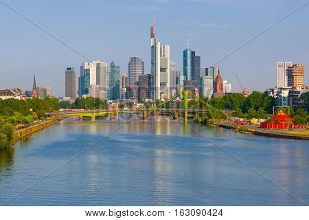 Frankfurt In A Summer Sunny Day