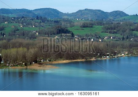 Aiguebelette Lake In Savoy, France