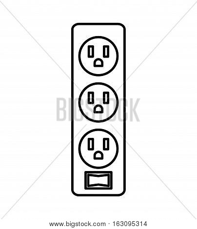 multi socket energy isolated icon vector illustration design