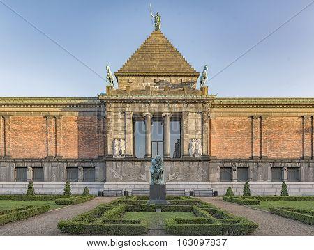The Ny Carlsberg Glyptotek is an art museum in Copenhagen Denmark. poster