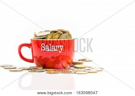 Coins With Finance Concept.