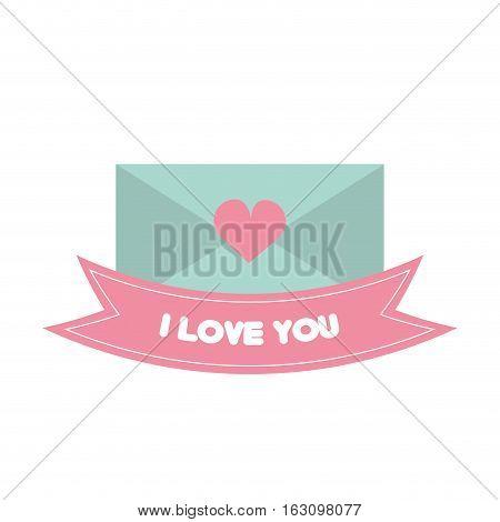 message i love you pink banner vector illustration eps 10