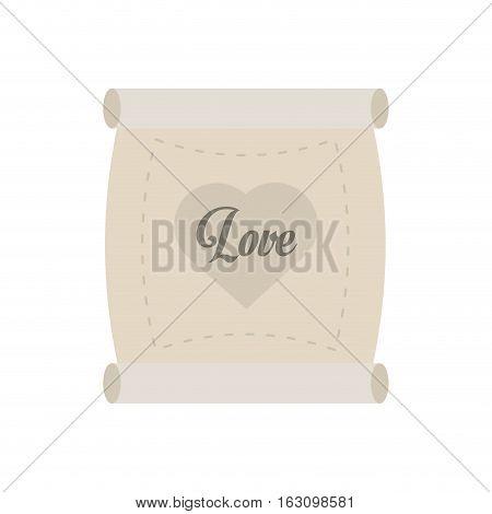 love parchment message heart vector illustration eps 10