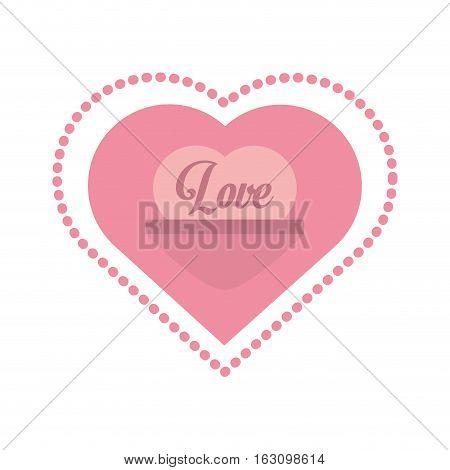 love heart message frame dots vector illustration eps 10
