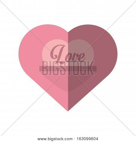 love heart message valentines day card vector illustration eps 10