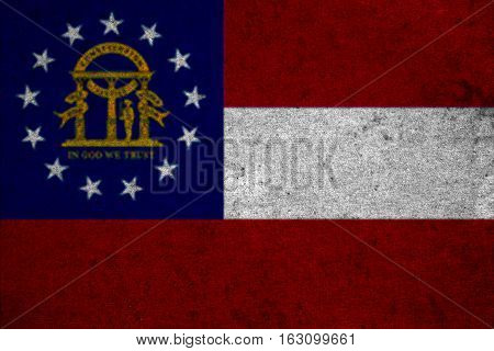 Graphic American State Grunge Flag Of Georgia