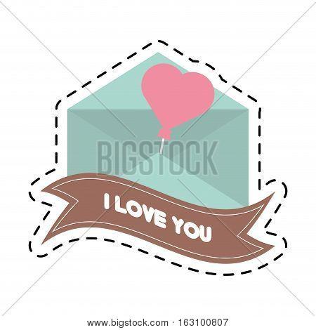 message i love you banner cut line vector illustration eps 10