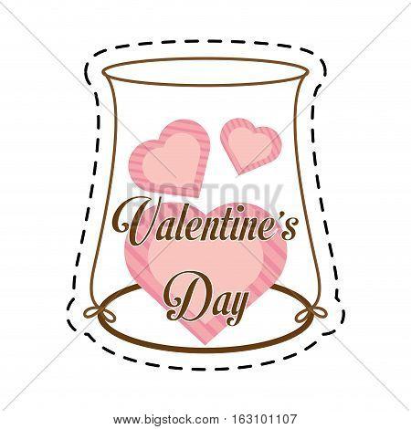 hearts love pink decoration cut line vector illustration eps 10