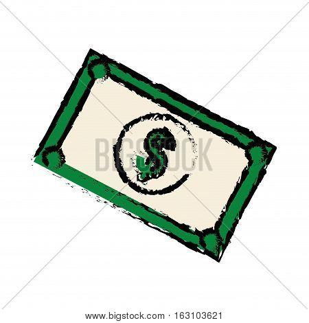 Money billets cash icon vector illustration graphic design