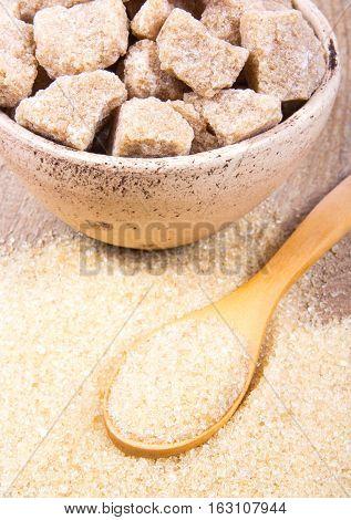 Cubes Of Sugar - Brown Sugar Cane.