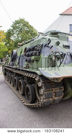 Poznan Poland. October 1 2016. View of the American -Patton M-88 armored recovery vehicle.