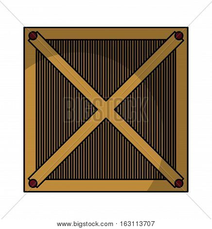 box wood container isolated icon vector illustration design