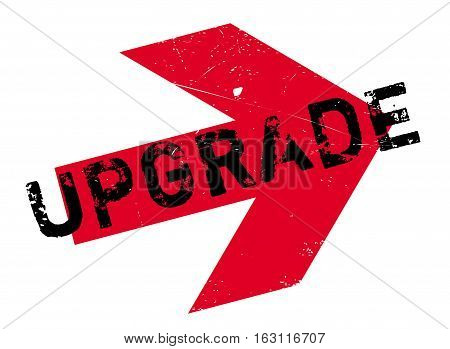 Upgrade stamp. Grunge design with dust scratches. Effects can be easily removed for a clean, crisp look. Color is easily changed.