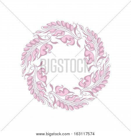 light rose color Art Nouveau style vector illustration