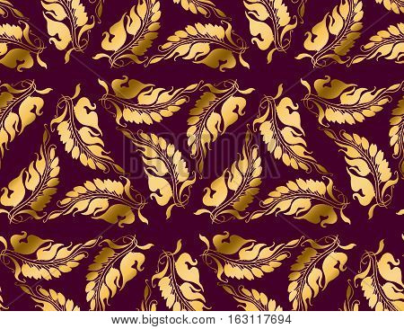 Art Nouveau style  purple vector pattern illustration