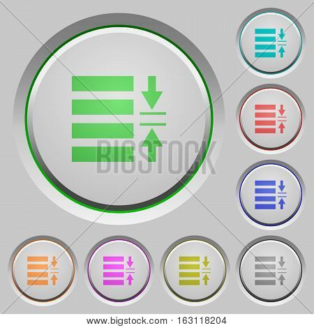 Adjust line spacing color icons on sunk push buttons