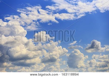 unique pattern of clouds in the sky are widely used as background