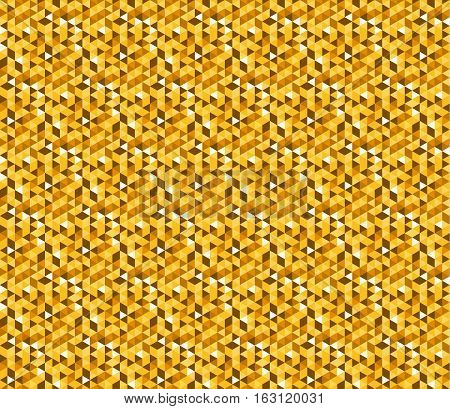 Modern gold style seamless pattern. Orient repeatable motif. Honey color vector illustration. Textured yellow background