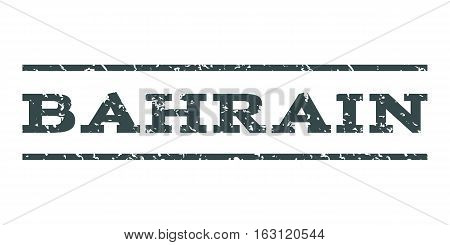 Bahrain watermark stamp. Text caption between horizontal parallel lines with grunge design style. Rubber seal stamp with dust texture. Vector soft blue color ink imprint on a white background.