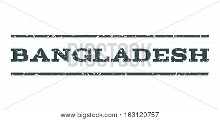 Bangladesh watermark stamp. Text tag between horizontal parallel lines with grunge design style. Rubber seal stamp with scratched texture. Vector soft blue color ink imprint on a white background.