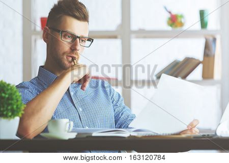 Attractive Guy With Document