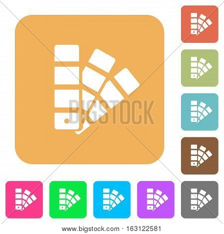 Color swatch icons on rounded square vivid color backgrounds.