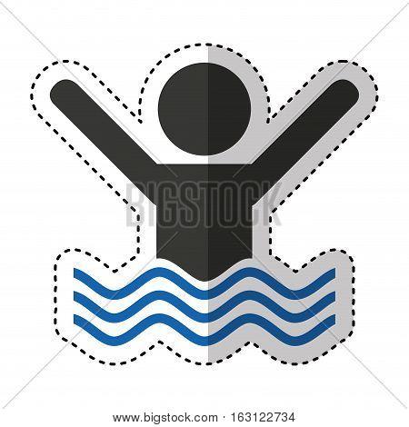 swiming person isolated icon vector illustration design