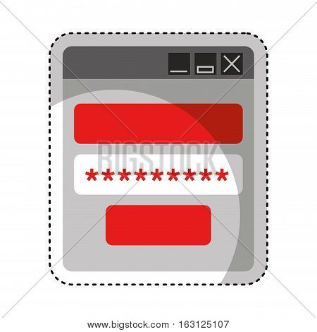 login and password icon vector illustration design
