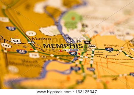 memphis tn area on the map photo poster