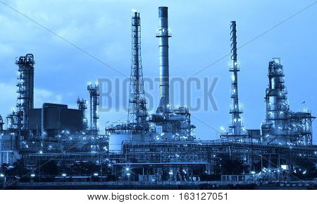 oil refinery industry in metalic color style use as metal style of heavy industry background