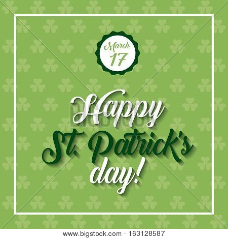 Saint Patrick's Day card. colorful design. vector illustration