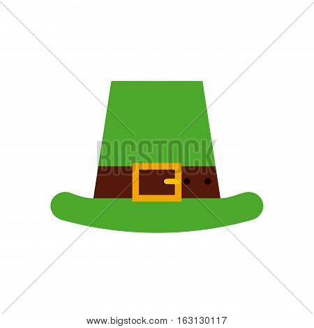 irish hat icon over white background. Saint Patrick's Day concept. colorful design. vector illustration