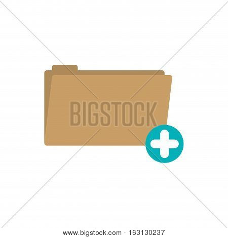 File icon. Folder document data archive and storage theme. Isolated design. Vector illustration