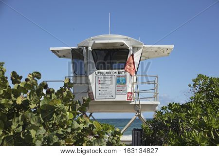 Image of lifeguard station located in Fort Lauderdale Florida